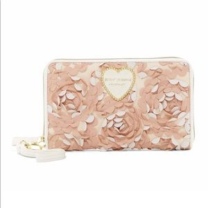 Betsey Johnson Floral Wristlet